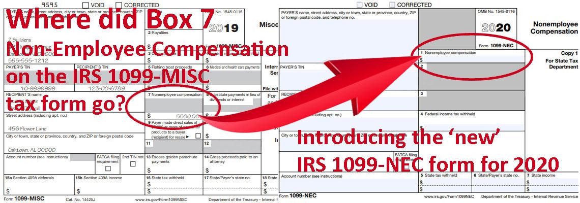 1099-MISC vs 1099-NEC